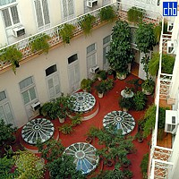 Courtyard At The hotel Plaza