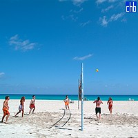 Volley beim Varadero Strand