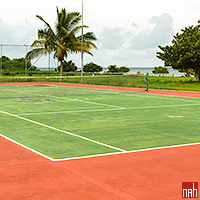 The Tennis Court at the Rancho Luna Hotel