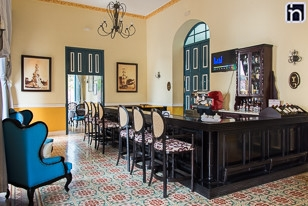 Lobby Bar of the Hotel Encanto Real, Remedios, Villa Clara