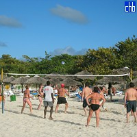 Volley beim Be Live Turquesa Strand