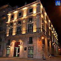 San Felipe Hotelfassade vom Plaza Francisco aus