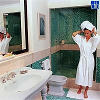 Badezimmer im Hotel Saratoga
