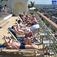 Терраса на крыше в отеле Саратога