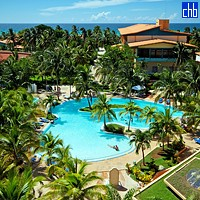 Aerial View Of The Sol Sirenas Hotel Pool