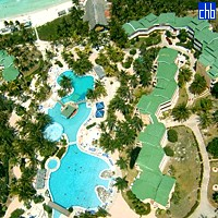 Aerial View Of Hotel Tryp Cayo Coco