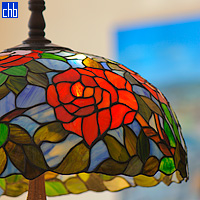 Hotel Velasco elegant fittings - Beautiful stained glass lampshade