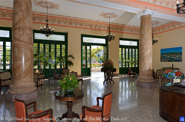 Lobby do Hotel Velasco, Matanzas