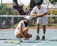 Cancha de Tenis en el Hotel Tortuga