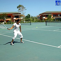 Tennis Court At The Playa Costa Verde Hotel
