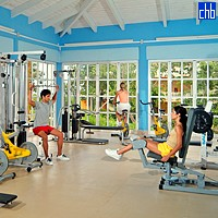 Gym Room At The Hotel Sol Rio De Luna Mares Resort