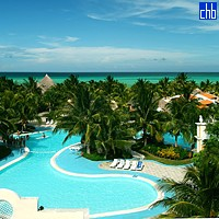 Hotel Sol Cayo Guillermo Pool Aerial View