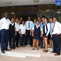 Photograph of La Lupe hotel staff