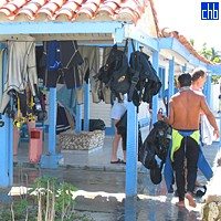 Diving Centre at Maria La Gorda