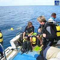 On The Maria La Gorda Diving Boat